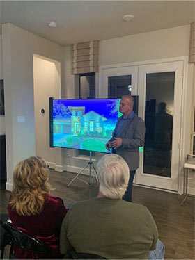 Belal Jarun, principal at Green Engineering, Inc, giving a presentation to home owners in Conroe, Texas.