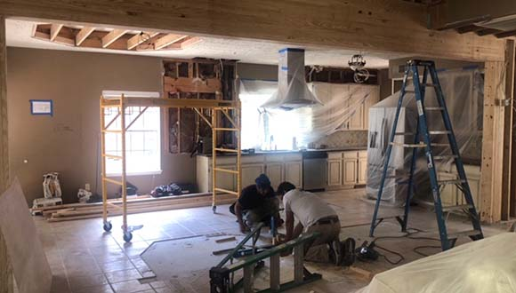 Removal of load-bearing walls from Green Engineering in the Greater North Houston Area